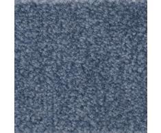Bodenmeister Teppichboden Velours gemustert, rechteckig, 8 mm Höhe, Meterware, Breite 400 cm, uni, Wunschmaß blau Bodenbeläge Bauen Renovieren