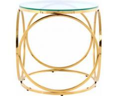 Kayoom Beistelltisch Whitney 225, randlose Tischplatte farblos Beistelltische Tische