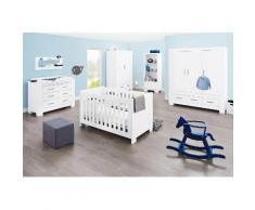 Pinolino Babyzimmer-Komplettset Ice (Set 3-tlg), weiß, weiß