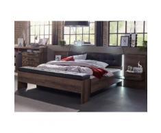 FORTE Bettanlage Bellevue, inkl. Lichtleiste im Kopfteil beige Funktionsbetten Betten Schlafzimmer