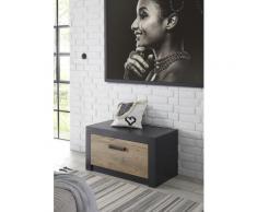 my home Schuhbank Bruegge, mit einer dekorativen Rahmenoptik grau Schuhbänke Schuhschränke Garderoben