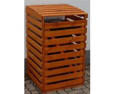 promadino Mülltonnenbox, für 1x120 l aus Holz, BxTxH: 68x63x111 cm braun Mülltonnenbox Garten- Kissenboxen Gartenmöbel Gartendeko