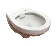 ADOB Tiefspül-WC, spülrandlos, inkl. Schallschutzmatte weiß WC-Becken WC Bad Sanitär Tiefspül-WC