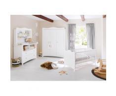 Pinolino Babyzimmer-Komplettset Florentina, (Set, 4 St.), extrabreit groß mit Regalaufsatz; Made in Europe weiß Baby Babybetten Babymöbel Möbel sofort lieferbar