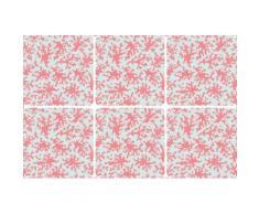 queence Getränkeuntersetzer GC0134-K4, (Set, 6 tlg.), aus Kunststoff rosa Untersetzer Küchenhelfer Haushaltswaren