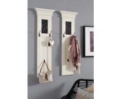 Home affaire Garderobenpaneel Arabeske (2 Stück) weiß Garderobenpaneele Garderoben
