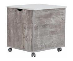 Wäschetruhe »Simply«, weiß, beton/weiß