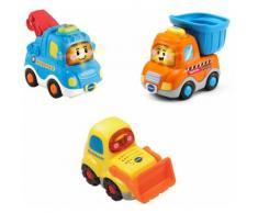 Vtech Spielzeug-Auto Tut Baby Flitzer - Baustellenfahrzeuge bunt Kinder Ab 12 Monaten Altersempfehlung Spielzeugfahrzeuge