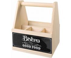 Contento Besteckträger Bistro Good Food beige Küchen-Ordnungshelfer Küchenhelfer Küche Besteckkörbe