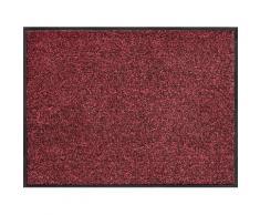 Home affaire Fußmatte Noyack, rechteckig, 7 mm Höhe rot Designer Fußmatten