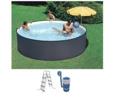 SUMMER FUN Rundpool (Set) grau Swimmingpools Pools Planschbecken Garten Balkon