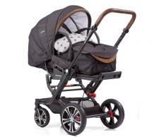Gesslein Kombi-Kinderwagen F6 Air+ mit Tragetasche C1 Lift, Anthrazit/Stern grau meliert, ; Made in Germany Kinder Kombikinderwagen Kinderwagen Buggies