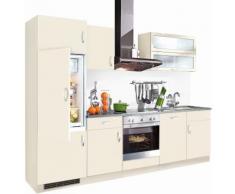 wiho Küchen Küchenzeile Amrum EEK C gelb Küchenzeilen mit Geräten -blöcke Küchenmöbel Arbeitsmöbel-Sets