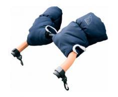 Heitmann Felle Kinderwagen-Handwärmer Eisbärchen, Handmuff für den Kinderwagen, Handschuhe mit praktischen Druckknöpfen zur Befestigung, warm und weich blau Kinder Zubehör Kinderwagen Buggies