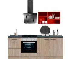 OPTIFIT Küchenzeile Mini, ohne E-Geräte, Breite 210 cm rot Singleküchen Küchenzeilen -blöcke Küchenmöbel Arbeitsmöbel-Sets