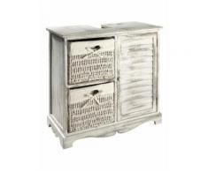 heine home Waschbeckenunterschrank inklusive Körbe, weiß, weiß