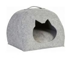 Zeller Present Tierkorb, Filz, 45x38x33 cm grau Katzenkörbe -kissen Katze Tierbedarf Tierkorb