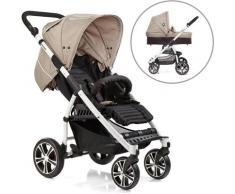 Gesslein Kombi-Kinderwagen S4 Air+, Weiß/Camel & Babywanne C3 Camel/Black braun Kinder Kombikinderwagen Kinderwagen Buggies
