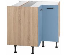 OPTIFIT Eckunterschrank Elga, mit Soft-Close-Funktion, höhenverstellbaren Füßen und Metallgriffen, Breite 90x90 cm blau Unterschränke Küchenschränke Küchenmöbel