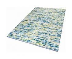 Teppich Reflection Esprit rechteckig Höhe 20 mm handgewebt, grün, Neutral, petrol