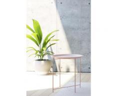 Homexperts Beistelltisch Smart, Tablett-Tisch aus Metall, 47 cm Durchmesser rosa Beistelltische Tische Tisch