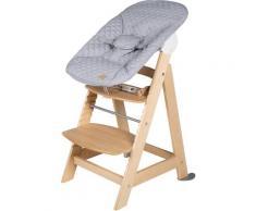 roba Hochstuhl Treppenhochstuhl 2-in-1 Set Style, Born Up, mit Neugeborenen-Aufsatz beige Baby Mitwachsende Hochstühle Babymöbel Stühle