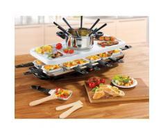 GOURMETmaxx Raclette und Fondue-Set Raclette- Fondue Set, 12 St. Raclettepfännchen, 1600 W weiß Küchenkleingeräte SOFORT LIEFERBARE Haushaltsgeräte