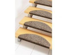 Stufenmatte Kopenhagen Andiamo stufenförmig Höhe 15 mm maschinell getuftet, braun, braun
