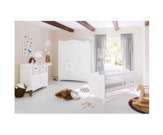 Pinolino Babyzimmer-Komplettset Florentina, (Set, 3 St.), breit groß; mit Kinderbett, Schrank und Wickelkommode; Made in Europe weiß Baby Babybetten Babymöbel Möbel sofort lieferbar