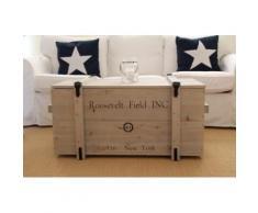 Uncle Joe´s Truhentisch Roosevelt Field grau Holz-Beistelltische Holztische Tische Tisch