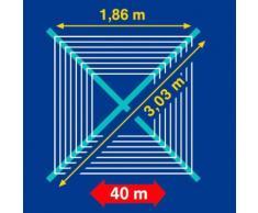 Leifheit Wäschespinne Wäscheschirm LINOMATIC V 400 silberfarben Wäscheständer und Wäschespinnen Wäschepflege Haushaltswaren