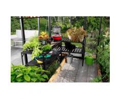Vitavia Pflanztisch, BxTxH: 121x54x76 cm schwarz Pflanztische Gewächshäuser Garten Balkon Tisch