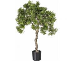 Kunstpflanze Podocarpus, grün, grün