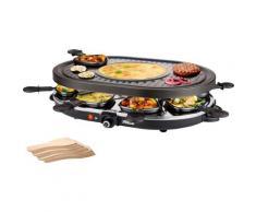 PRINCESS Raclette 8 Oval Grill Party - 162700, Raclettepfännchen, 1200 Watt schwarz Küchenkleingeräte Haushaltsgeräte