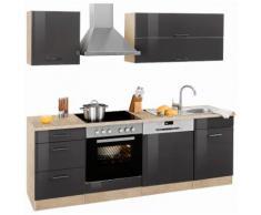 HELD MÖBEL Küchenzeile Graz, ohne E-Geräte, Breite 220 cm grau Küchenzeilen Geräte -blöcke Küchenmöbel Arbeitsmöbel-Sets