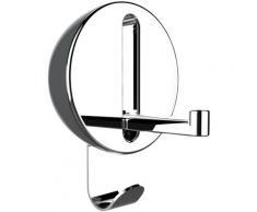 WENKO Klapphaken Premium Delta, ideal für Küche, Bad, WC, Garderobe & gesamten Haushalt, rund grau Garderobenhaken Garderoben