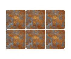 queence Getränkeuntersetzer GC0117-K4, (Set, 6 tlg.), aus Kunststoff goldfarben Untersetzer Küchenhelfer Haushaltswaren