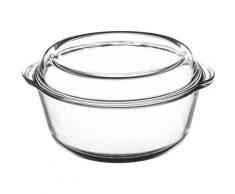 Mason Cash Auflaufform Classic, Borosilikatglas, rund, mit Deckel farblos Auflaufformen Kochen Backen Haushaltswaren