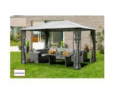 KONIFERA Pavillon Kreta, BxT: 300x400 cm, Stahlgestell, mit Ersatz-Dach grau Pavillons Garten Balkon