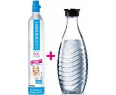 SodaStream Wassersprudler, Reservepack mit 1x CO2-Zylinder und 0,6 L Glaskaraffe bunt Sodastream Küchenkleingeräte Haushaltsgeräte Wassersprudler