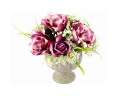 Kunstpflanze Arrangement Rosen in Pokal, lila, lila