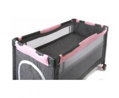 CHIC4BABY Baby-Reisebett Luxus, Melange Rosa, inkl. Transporttasche grau Baby Reisebetten Babybetten Babymöbel