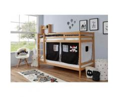 Ticaa Etagenbett Rene, mit Rollrost und Textil-Set wahlweise Matratze, Buche beige Kinder Kinderbetten Kindermöbel