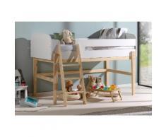 Vipack Hochbett Kiddy, inkl. Lattenrost, MDF-Oberfläche weiß Kinder Hochbetten Kinderbetten Betten