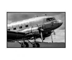 Papermoon Infrarotheizung Vintage Verkehrsflugzeug Schwarz & Weiß, sehr angenehme Strahlungswärme bunt Heizkörper Heizen Klima