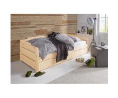 Daybett, mit 2. Schlafgelegenheit und Rollrost braun Doppelbetten Betten Daybetten
