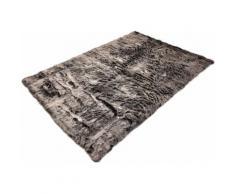 Fellteppich Velvet Böing Carpet rechteckig Höhe 50 mm maschinell getuftet, grau, grau