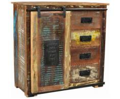 SIT Kommode Jupiter, aus recyceltem Altholz, Breite 77, Shabby Chic, Vintage bunt Kombikommoden Kommoden Sideboards