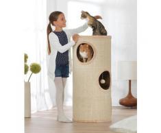 ABUKI Kratzbaum Tower, hoch, BxTxH: 46x46x100 cm beige Kratz- Kletterbäume Katze Tierbedarf