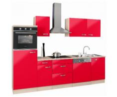 OPTIFIT Küchenzeile Faro, ohne E-Geräte, Breite 270 cm rot Küchenzeilen Geräte -blöcke Küchenmöbel Arbeitsmöbel-Sets